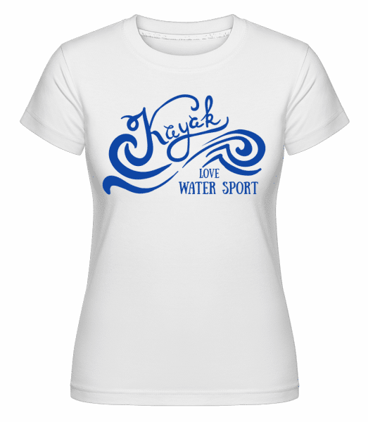 Kayak Logo Blue -  Shirtinator Women's T-Shirt - White - Vorn