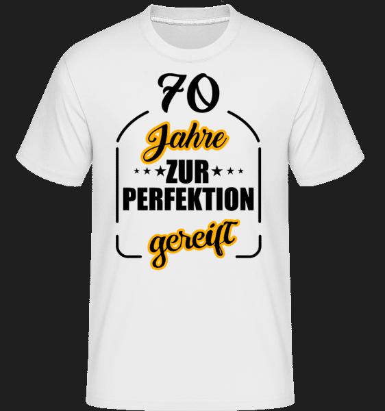 70 Jahre Gereift - Shirtinator Männer T-Shirt - Weiß - Vorn