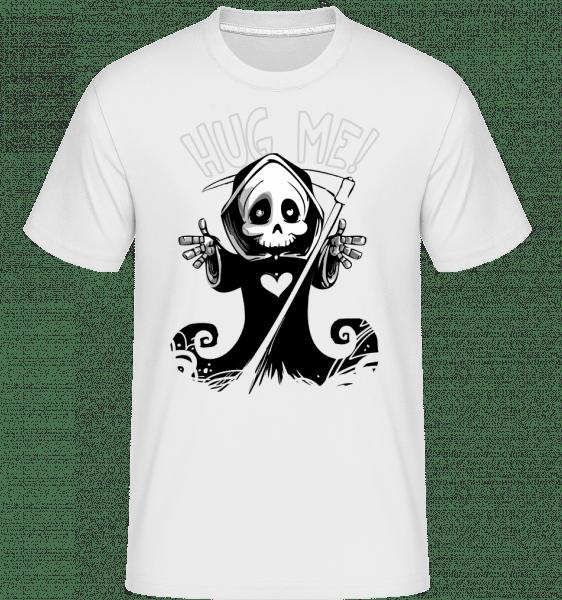 Death Want's A Hug - Shirtinator Männer T-Shirt - Weiß - Vorn