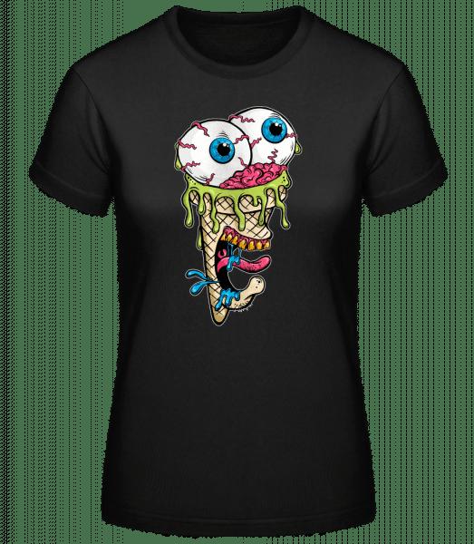 Glace D'Horreur - Basic T-Shirt - Černá - Predné