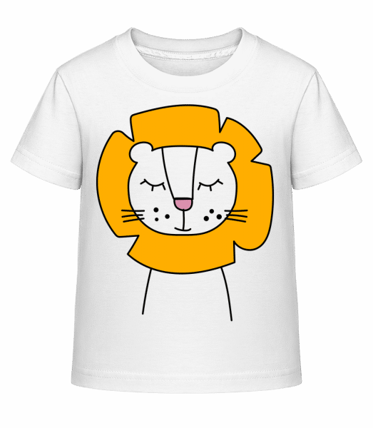 Putziger Löwe - Kinder Shirtinator T-Shirt - Weiß - Vorn
