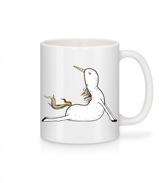 Yoga Unicorn Praying - Mug - White - Vorn