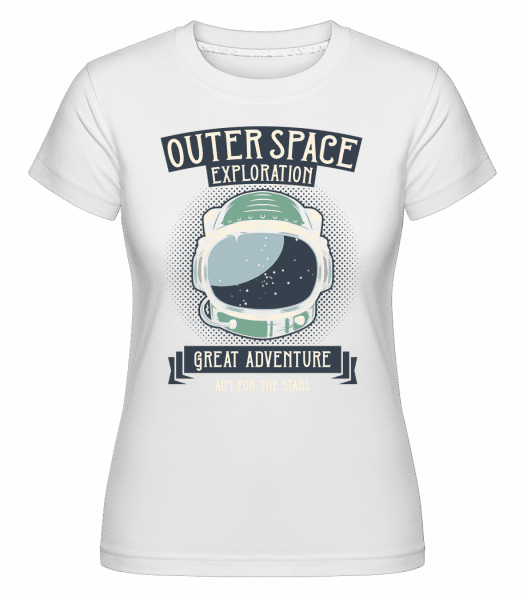 Outer Space Exploration -  Shirtinator Women's T-Shirt - White - Vorn