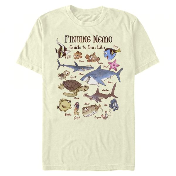 Vintage Nemo Group Shot - Pixar Finding Nemo - Men's T-Shirt - Cream - Front