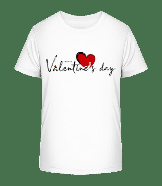 Valentines Day - Kid's Premium Bio T-Shirt - White - Front