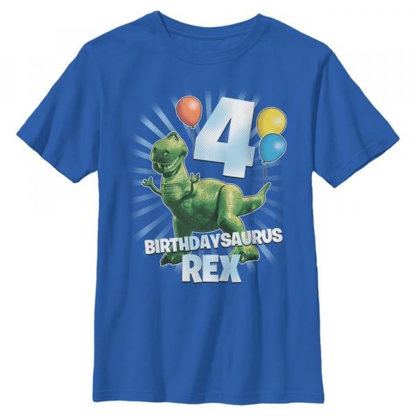 Ballon Rex 4 - Pixar Toy Story 1-3 - Kids T-Shirt - Royal blue - Front