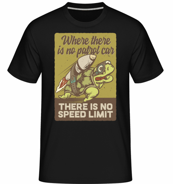 There Is No Speed Limit -  Shirtinator Men's T-Shirt - Black - Vorn