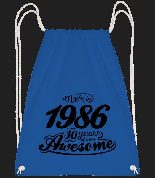 Made In 1986 - Turnbeutel - Royalblau - Vorn