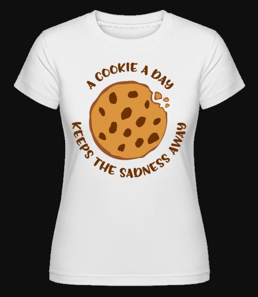 Cookie A Day -  Shirtinator tričko pre dámy - Biela - Predné