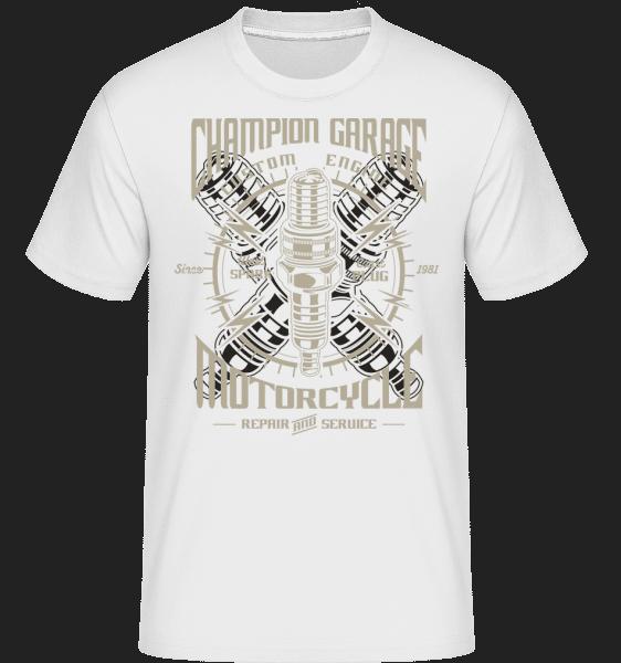 Spark Plug -  Shirtinator Men's T-Shirt - White - Front