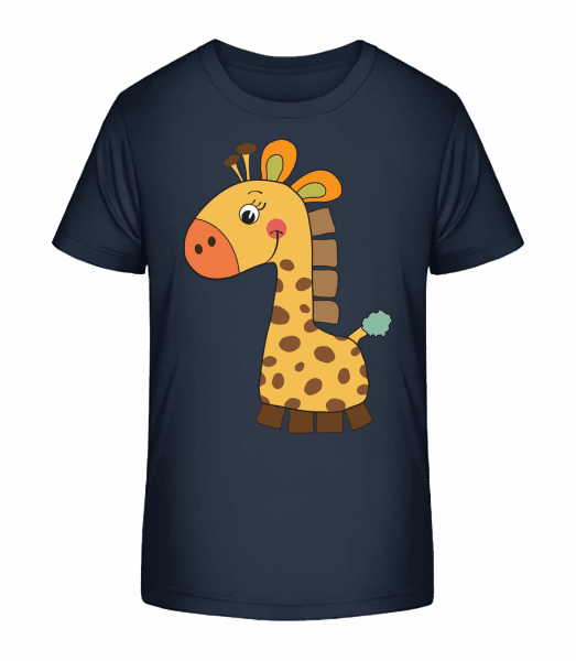 Baby Comic - Giraffe - Kinder Premium Bio T-Shirt - Marine - Vorn