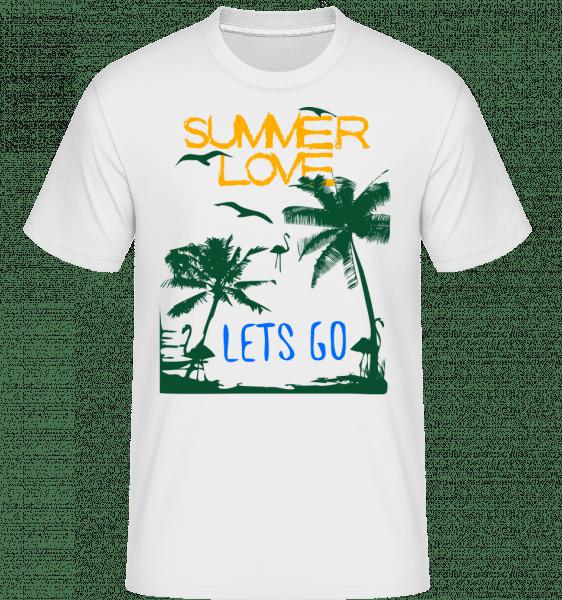 Summer Love Icon -  Shirtinator Men's T-Shirt - White - Vorn