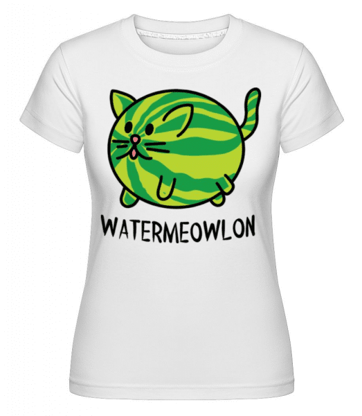 Watermeowlon -  Shirtinator Women's T-Shirt - White - Front