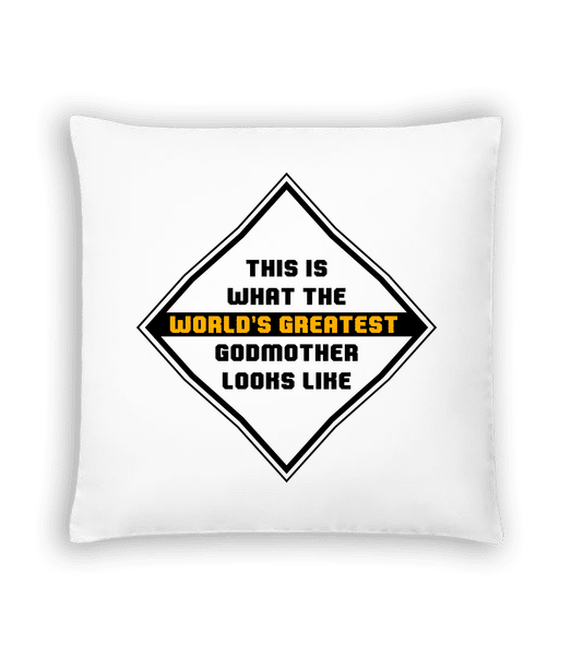 World's Greatest Godmother - Cushion - White - Vorn