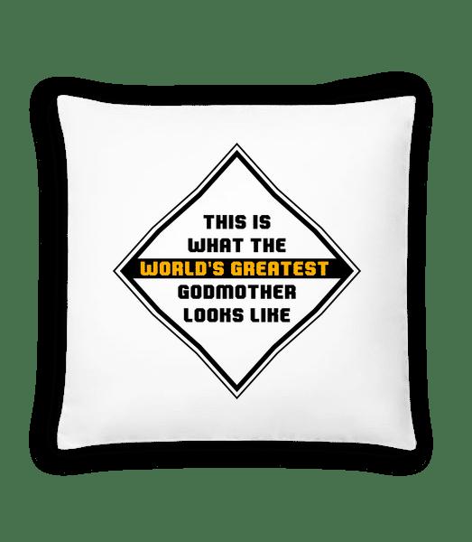 World's Greatest Godmother - Cushion - White - Vorn