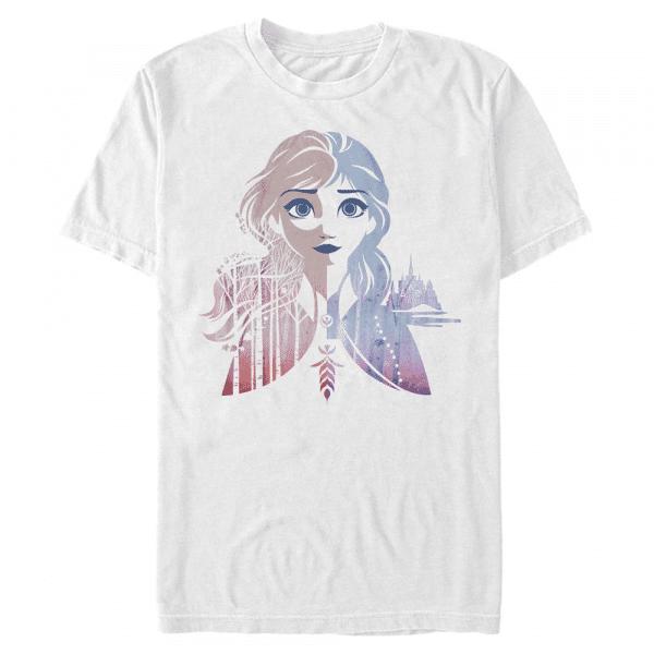 Anna Seasons - Disney Frozen 2 - Men's T-Shirt - White - Front