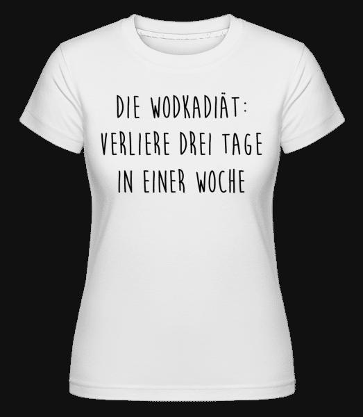 Die Vodkadiät - Shirtinator Frauen T-Shirt - Weiß - Vorn