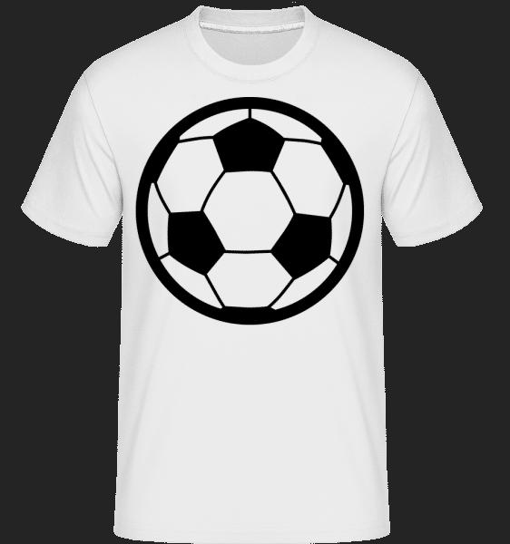 Futbalová lopta -  Shirtinator tričko pre pánov - Biela - Predné