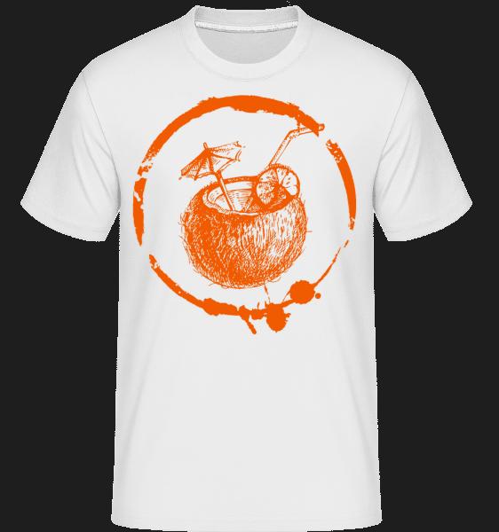 prázdniny Cocktail -  Shirtinator tričko pre pánov - Biela - Predné
