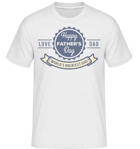 World Greatest Dad -  Shirtinator Men's T-Shirt - White - Front