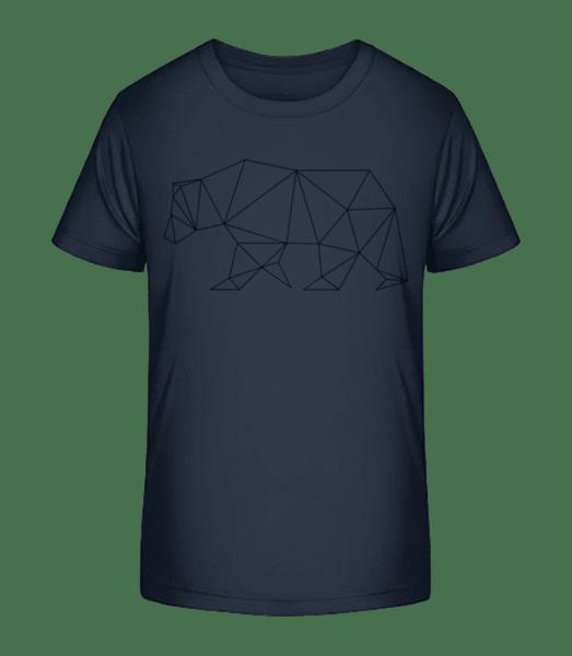 Polygon Bär - Kinder Premium Bio T-Shirt - Marine - Vorn