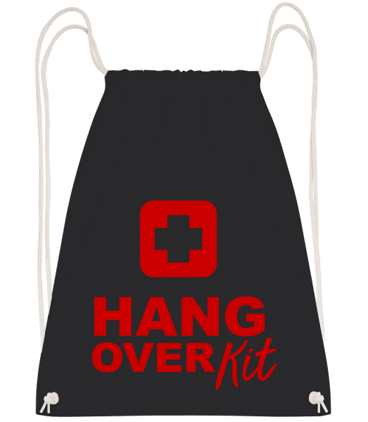 Hangover Kit - Drawstring Backpack - Black - Vorn