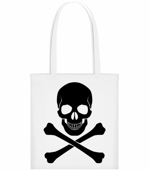 Skull And Bones - Carrier Bag - White - Vorn