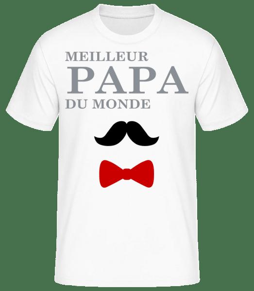Meilleur Papa Du Monde - T-shirt standard Homme - Blanc - Vorn