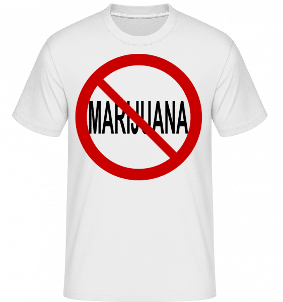No Marijuana Sign -  Shirtinator Men's T-Shirt - White - Front