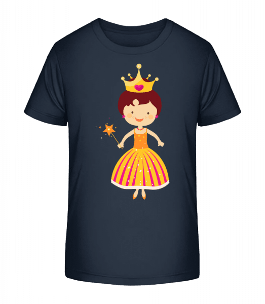 Princess Kids - Kid's Premium Bio T-Shirt - Navy - Front