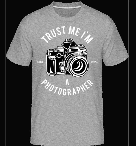 Photographer -  Shirtinator Men's T-Shirt - Heather grey - Vorn