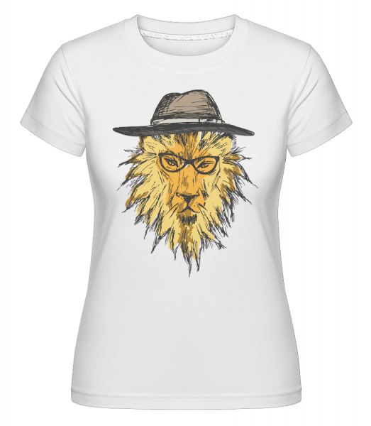 Hipster Lion -  Shirtinator Women's T-Shirt - White - Vorn