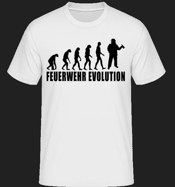 Feuerwehr Evolution - Shirtinator Männer T-Shirt - Weiß - Vorn