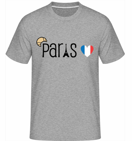 Paris Logo -  Shirtinator Men's T-Shirt - Heather grey - Vorn