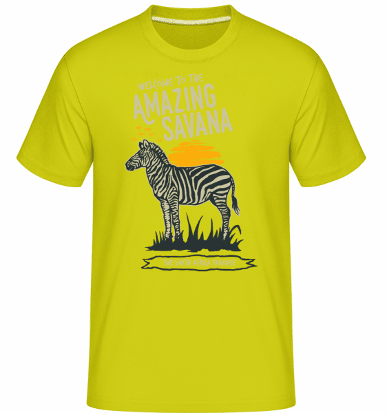 Zebra Amazing Savana -  Shirtinator Men's T-Shirt - Apple green - Front