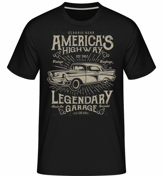America's Highway -  Shirtinator Men's T-Shirt - Black - Vorn