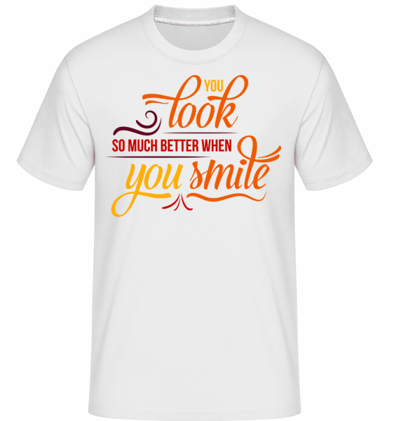 You Look So Much Better When You -  Shirtinator tričko pre pánov - Biela - Predné