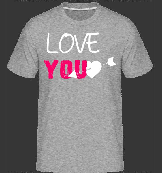 Love You -  Shirtinator Men's T-Shirt - Heather grey - Vorn
