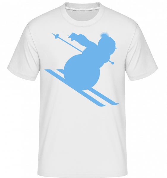 Ski Snowman Blue -  Shirtinator Men's T-Shirt - White - Vorn