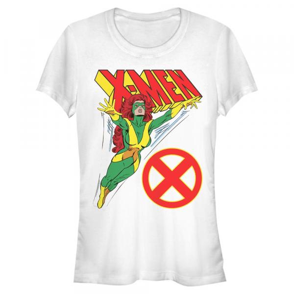 Grey Flight Jean Grey - Marvel X-Men - Women's T-Shirt - White - Front