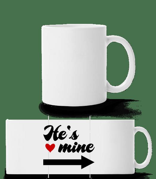 He's Mine - Panoramatasse - Weiß - Vorn
