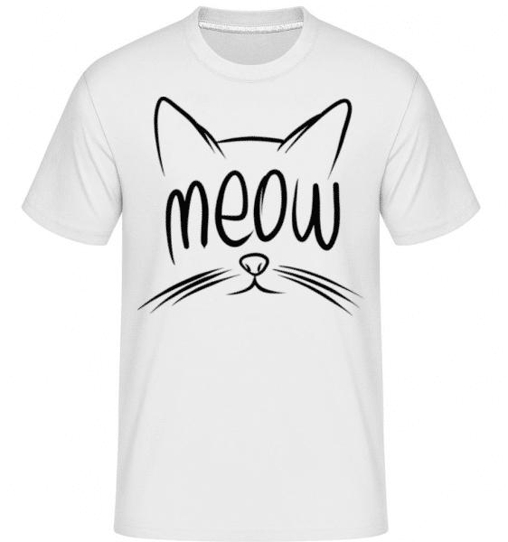 Meow -  Shirtinator Men's T-Shirt - White - Front