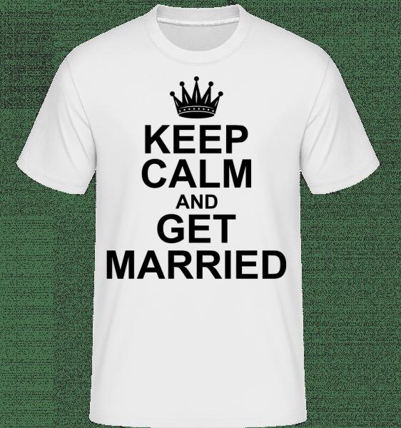 Miernite sa a ženiť -  Shirtinator tričko pre pánov - Biela - Predné