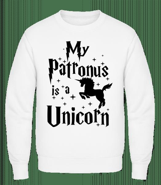 My Patronus Is A Unicorn - Classic Set-In Sweatshirt - White - Vorn