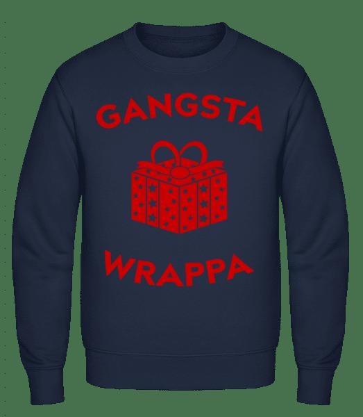 Gangsta Wrappa - Men's Sweatshirt - Navy - Vorn