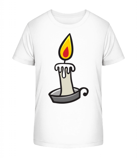 Halloween Candle - Kid's Premium Bio T-Shirt - White - Front