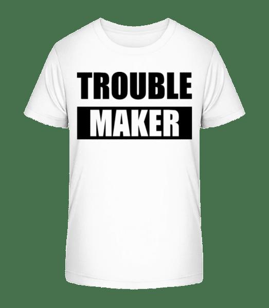 Troublemaker - Kid's Premium Bio T-Shirt - White - Vorn