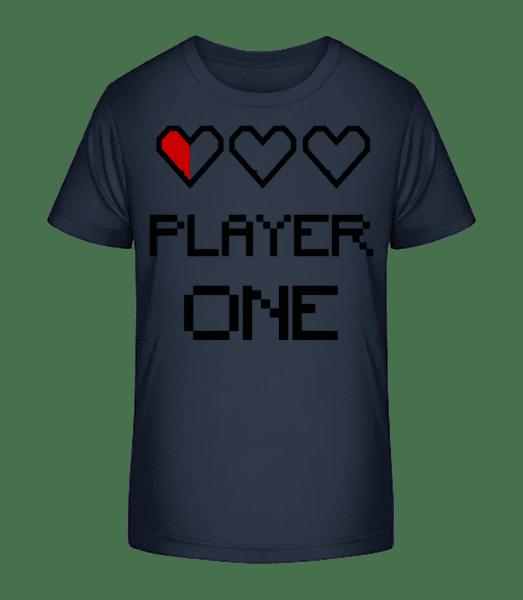 Player One - Kid's Premium Bio T-Shirt - Navy - Vorn