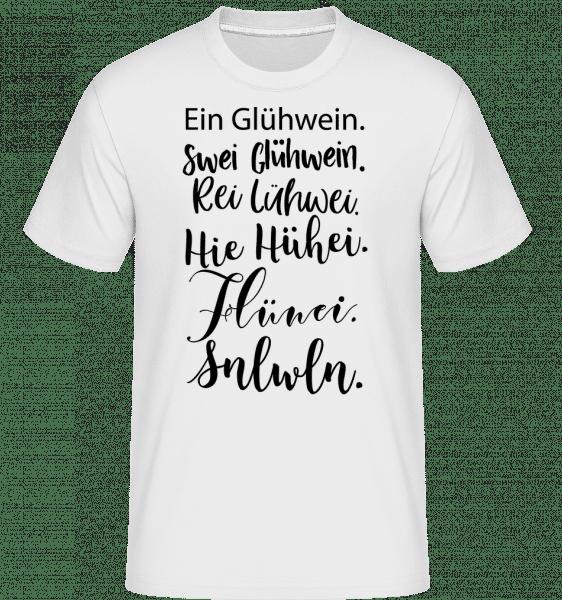 Glühwein Never Ending Story - Shirtinator Männer T-Shirt - Weiß - Vorn