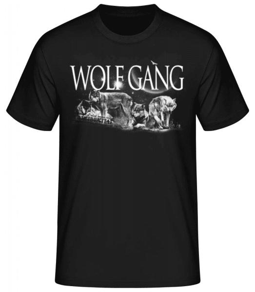 Wolf Gang - Men's Basic T-Shirt - Black - Front